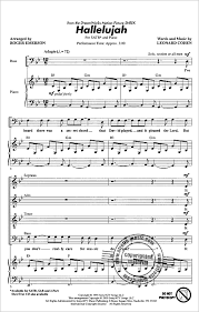hallelujah piano sheet music hallelujah from leonard cohen buy now in our stretta sheet music shop