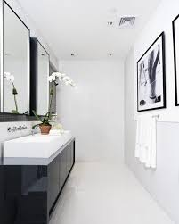 modern white bathroom designs. Fine White Modern Bathroom Design In Black And Whtie Color Theme With A Nice Vessel  Sink Intended Modern White Bathroom Designs