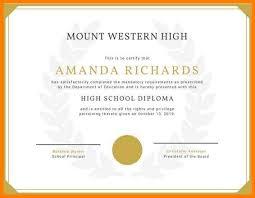6 High School Diploma Certificate Template Pear Tree Digital