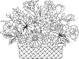 coloring pages flowers for adults 2. Fine Coloring Best Of Printable Flower Bouquet Coloring Pages Collection 2l   Bouquet Flowers Coloring Intended Pages For Adults 2 O