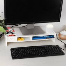 image is loading computermonitorstanddesktop organizerstoragerackkeyboard desk monitor riser o1