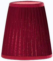 dark red pleated 5 inch clip on candle lamp shade