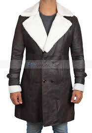 superfly brown leather shearling coat