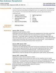 receptionist cv example and template   learnist org