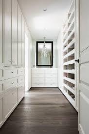 white closet dresser with black mirror