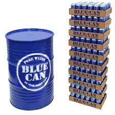 blue can water 55 gallon storage barrel limited supply capability
