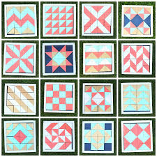 Half square triangle quilt practice blocks - A girl and a glue gun & I mean check out all these patterns!!! chevron, checker board, herringbone,  arrows….so many cool options! quilt patterns Adamdwight.com