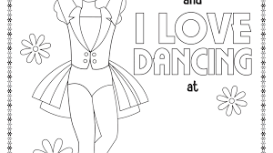 Stunning Free Printable Dance Colorings Sheets Tap Hip Hop Coloring