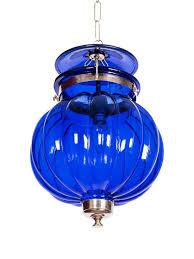 goan melon handi lantern hanging light indigo decorative at foslighting