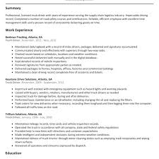 Truck Driver Resumes Best Truck Driver Resume Example Livecareer