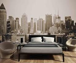 Fotobehang Skyline Manhattan Zwart Wit Walldesign56com