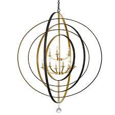 crystorama luna 9 light english bronze antique gold chandelier