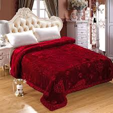 Wedding Decoration Blanket Embroidered Home Textile Bedding Winter ... & Wedding Decoration Blanket Embroidered Home Textile Bedding Winter Thick  Fluffy Fat Quilt Comforter Fur Mink Blankets Adamdwight.com