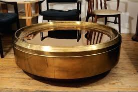 brass coffee tables golden charming round brass coffee table contemporary modern emphasize furniture glass on top brass coffee tables