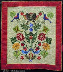 176 best William Morris Quilts images on Pinterest   Appliqué ... & Strawberry Thieves by Donna Viitanen, quilted by Anita Shackelford. William  Morris design by Michele Adamdwight.com