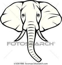 445x470 clip art of elephant head african elephant k15351666