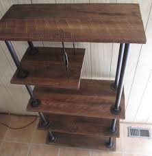industrial pipe furniture. Simple Industrial Wondrous Design Industrial Pipe Furniture Iron Desk Turnbuckle Shelving  Casters Oak Reclaimed Wood Diy Throughout V