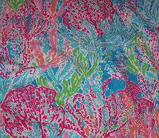 lilly pulitzer fabric for sale.  Pulitzer RARE LILLY PULITZER FABRICLETS CHA CHABLUE BOLD PINK GREEN 17X17 Inside Lilly Pulitzer Fabric For Sale I