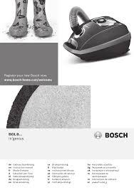 Gebruiksaanwijzing BOSCH stofzuiger BGL8430 | Manualzz