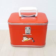 retro that time thing fujiya peko chan poko chan sewing box jue reebok s make up box bag bag