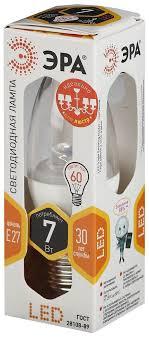 "<b>Лампа светодиодная ЭРА</b> ""Clear"", цоколь E27, 170-265V, 7W ..."