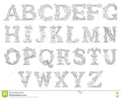 fl font coloring book for s vector stock vector ilration of coloring black