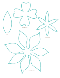 Templates For Flowers Papierdrahtdraht Blumen Vorlage