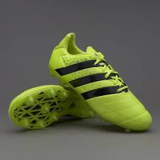 adidas ace. adidas ace 16.2 fg/ag leather - solar yellow/core black/silver metallic ace s