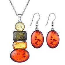 2019 Hot Selling Tibet Insect Amber Colored <b>Beeswax Jewelry</b> Set ...