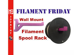 wall mount filament spool rack on da
