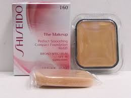 details about shiseido the makeup perfect smoothing pact foundation i60 natural deep ivory
