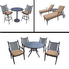 belmont 11 piece aluminum outdoor dining set with sunbrella brown cushions