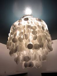 large capiz shell chandelier
