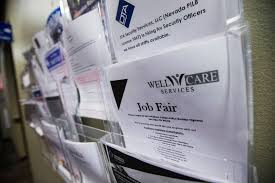 job postings displa at one stop career center in las vegas on friday aug