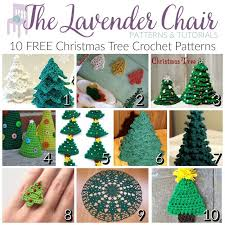 Crochet Christmas Tree Pattern Fascinating FREE Christmas Tree Crochet Patterns The Lavender Chair