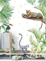 Dieren Jungle Kids Behang Childrens Bedroom In 2019 Kinderkamer