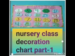 nursery class room decoration chart