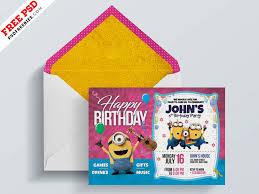 Kids Birthday Invitation Card Psd By Psd Freebies On Dribbble