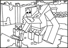 Mindcraft Coloring Pages Printable Coloring Page Minecraft Sword
