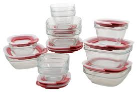 rubbermaid 22 piece glass food storage container set