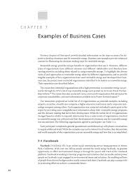 Chapter 7 Examples Of Business Cases Developing A Business