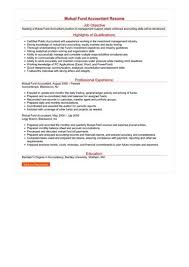 mutual fund accounting mutual fund accountant resume sample best format