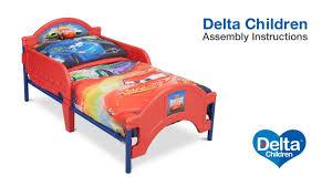delta children toddler bed embly