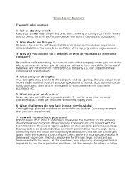Team Leader Interview Leadership Mentoring Leadership