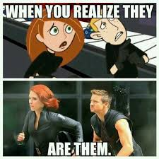 Kim Possible and the Avengers? | Kim Possible | Know Your Meme via Relatably.com