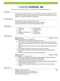 Best Nursing Resume Template Good Nursing Resume Colesthecolossusco