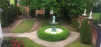 courtyard fountain highlights gardens at falcon rest
