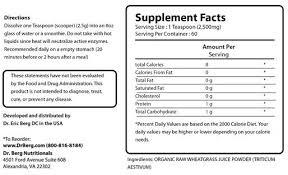 Raw Wheat Grass Juice Powder