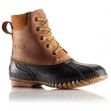 sorel men s cheyanne lace full grain leather boot in chipmunk