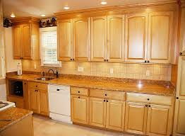 Small Picture golden oak cabinets with white appliances Maple arched kitchen